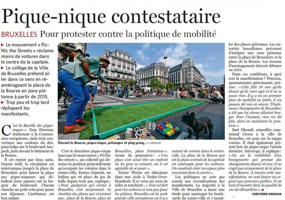 10/06/13 : Pique-nique contestataire (Le Soir)